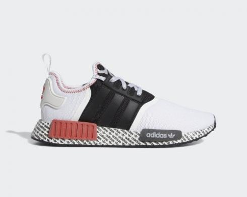 Adidas NMD R1 Print Boost White Black Red Shoes FV7848