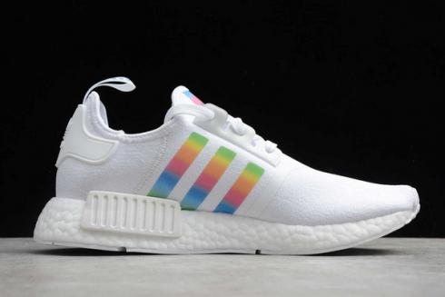 Adidas NMD R1 White Multi-Color Running Shoes FY9666