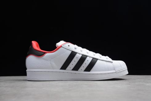 Adidas Originals Superstar Cloud White Leather Black Red BC0199