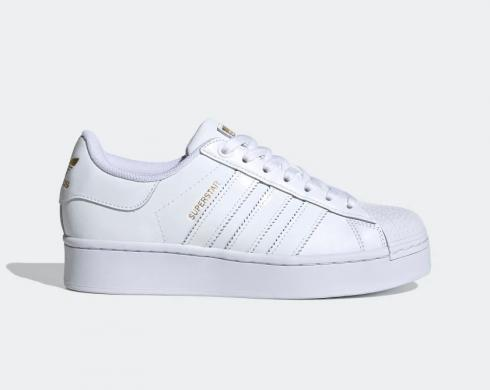 Adidas Superstar Cloud White Gold Metallic Shoes FV3334