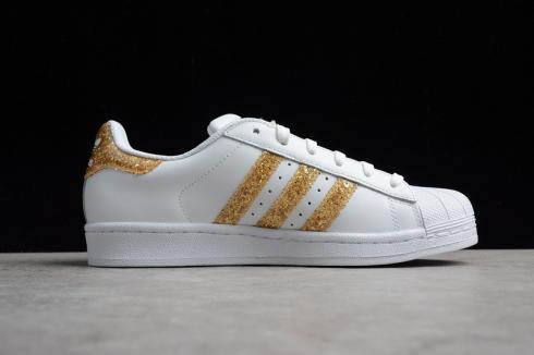 Adidas Superstar Cloud White Golden Yellow Shoes S76924