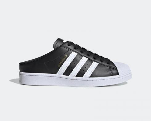 Adidas Superstar Slip On Backless Mule Core Black Cloud White FX0528