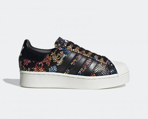 Adidas Wmns Superstar Bold Floral Core Black Off White Red FW3701