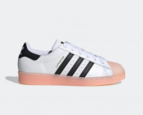 Adidas Wmns Superstar Rubber Shelltoe Coral White Black FW3553