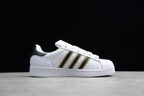 Adidas Wmns Superstar White Black Gold Shoes G54692