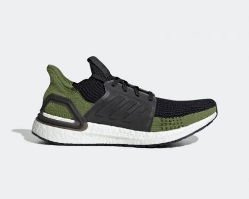 Adidas UltraBoost 20 19 Core Black Tech Olive Shoes G27511