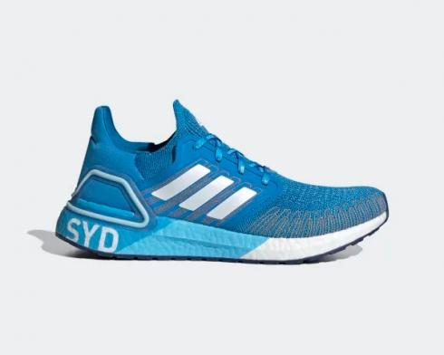 Adidas UltraBoost 20 City Pack Sydney Blue Cloud White FX7814