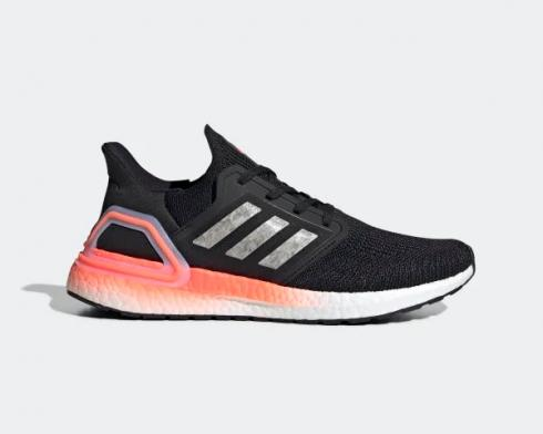 Adidas UltraBoost 20 Signal Coral Core Black Footwear White EG0756