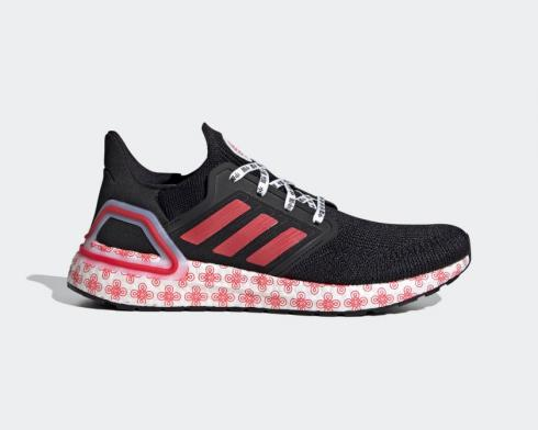 Adidas Ultraboost 20 Core Black Glory Red Cloud White FX8886