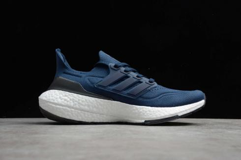 Adidas Ultraboost 21 Dark Blue Core Black Cloud White Shoes FY0350