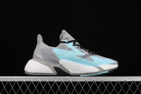 Adidas X9000L4 Boost Cool Grey Ice Blue White FW8405