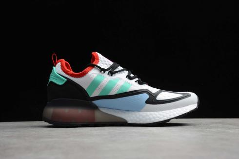 Adidas ZX 2K Boost White Black Red Green Shoes FV2958