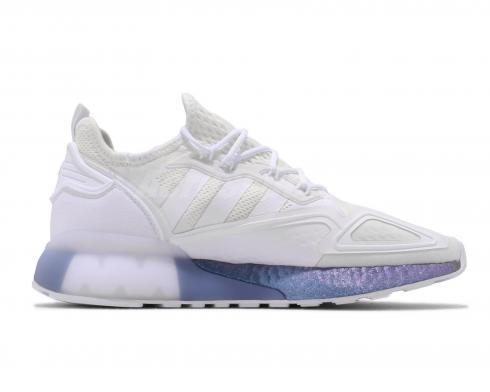 Adidas ZX 2K Boost White Purple Running Shoes FV2928
