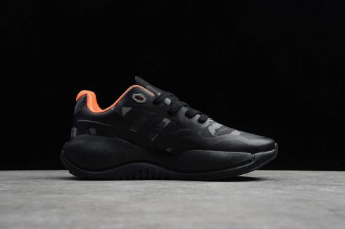 Adidas ZX ALKYNE Core Black Orange Wolf Grey Shoes GZ8913