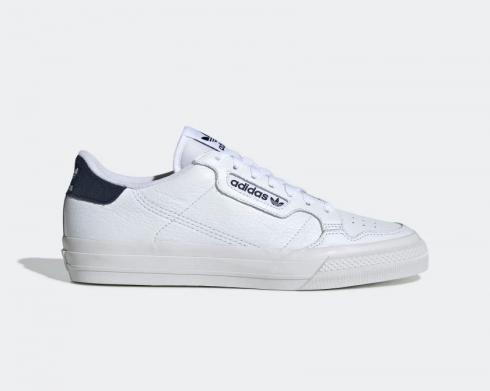 Adidas Continental Vulc Colligiate Navy Footwear White Black EG4588