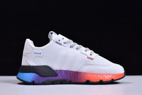 Adidas Nite Jogger Boost White Black Purple Orange Blue FX1398