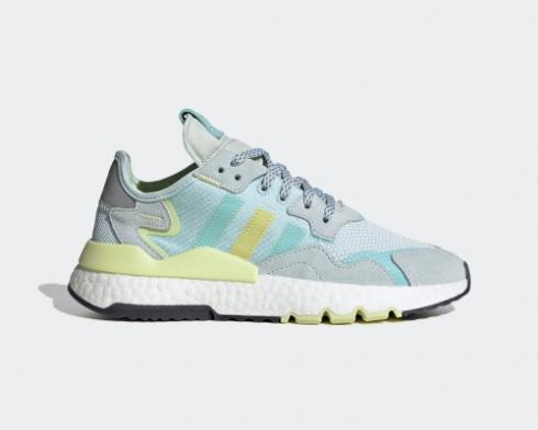 Adidas Nite Jogger Boost White Blue Green Shoes FX7460