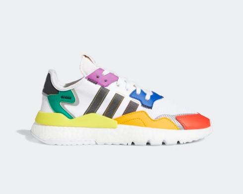 Adidas Nite Jogger Pride Cloud White Core Black Silver Metallic FY9023