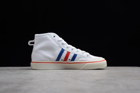Adidas Nizza High Cloud White Royal Blue Solar Red Shoes AF6338
