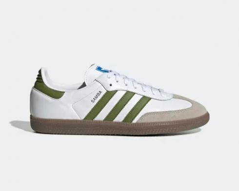 Adidas Samba OG Cloud White Tech Olive Light Brown EE7055