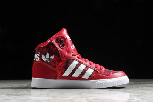 Adidas Wmns Extaball Floral Print Red Cloud White Core Black BB0691