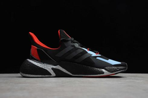 Adidas X9000L4 BOOST Core Black Red Blue Running Shoes FY0778