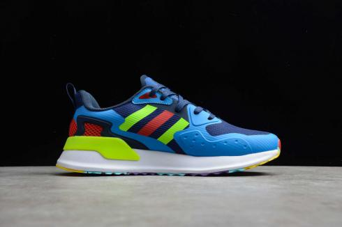 Adidas X PLR Blue Cloud White Green Solar Red Multi-Color Shoes EE7651