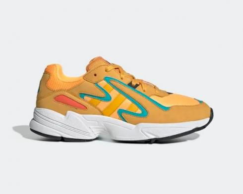 Adidas Yung-96 Chasm Flash Orange Active Gold Hi-Res Aqua EE7228