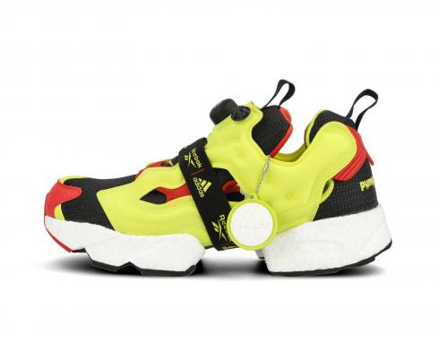 Instapump Fury x Adidas Boost OG Meets OG Black Hypergreen Reebok Red FW5305