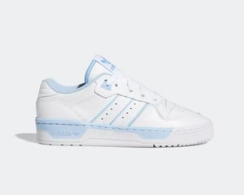 Wmns Adidas Rivalry Low Originals Cloud White Glow Blue EE5932