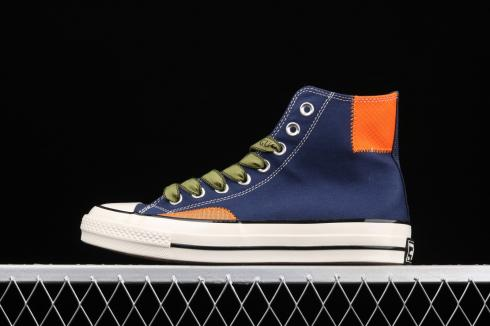 Converse Alt Exploration Chuck 70 High Top Navy Blue Orange 170127C