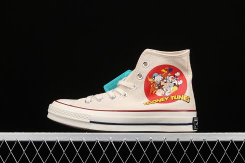 Converse Chuck 1970s High One Star Looney Tunes Sail Brown Red 162053C