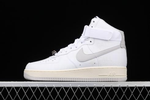 Nike Air Force 1 07 Premium Toll Free White Grey Running Shoes CU1414-100