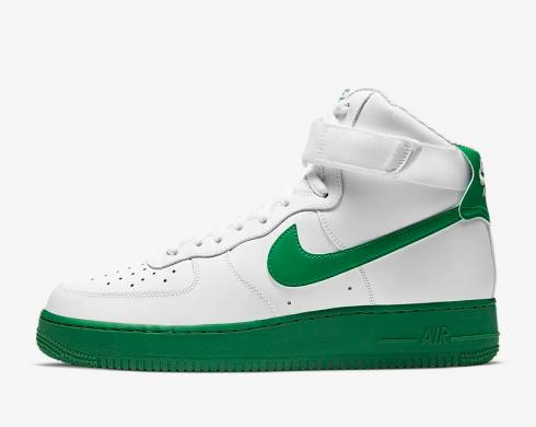 Nike Air Force 1 High 07 Lucky Green White Shoes CK7794-100