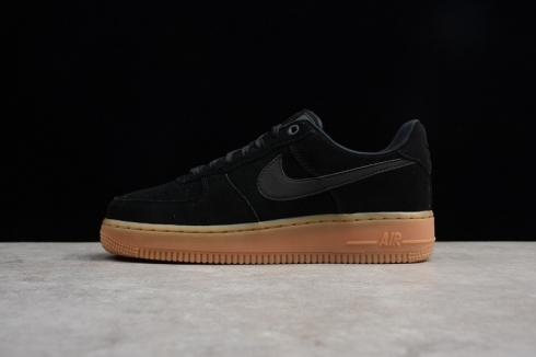 Air Force 1'07 LV8 SUEDE Black Gum Medium Brown AA1117-001