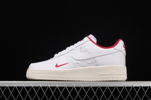 KITH x Nike Air Force 1 Low White Red Running Shoes CQ2985-192