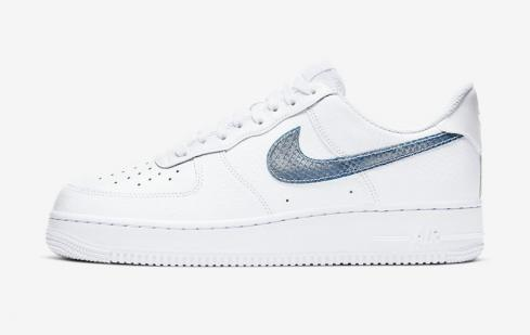 Nike Air Force 1 Low Blue Snakeskin CW7567-100