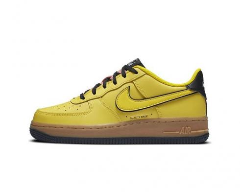 Nike Air Force 1 Low GS Yellow Gum Black CZ7948-700
