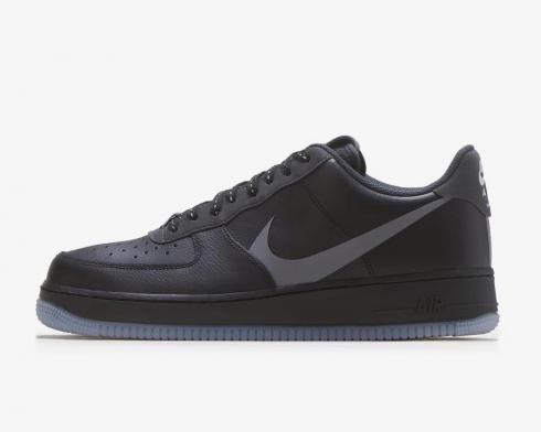Nike Air Force 1 Low Grey Swoosh Black Anthracite Shoes CD0888-001