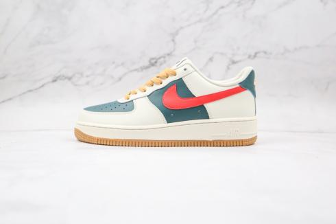 Nike Air Force 1 Low Id Cream Green Red AQ3778-991