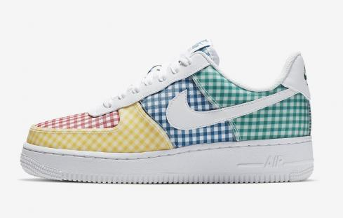 Nike Air Force 1 Low QS White Gingham Pack Multicolor BV4891-100