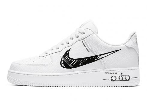 Nike Air Force 1 Low Sketch White Royal Black CW7581-002