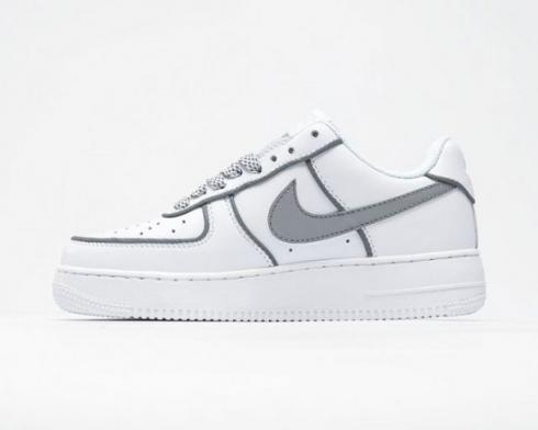 Nike Air Force 1 Low White Grey Running Shoes AO9296-002