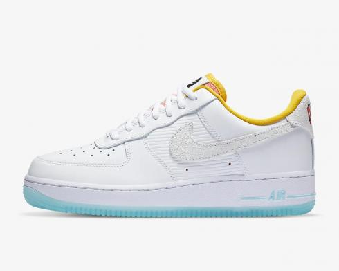 Nike Wmns Air Force 1'07 Corner Markets White Dark Sulfur Hyper Pink CZ8132-100