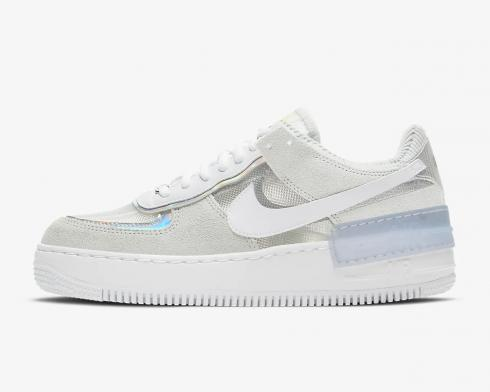 Nike Wmns Air Force 1 Shadow Pure Platinum White Shoes DC5255-043