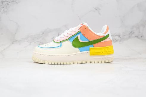 Wmns Nike Air Force 1 Low White Multi Color CW2630-101