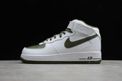 Nike Air Force 1 Mid Retro White Dark Green Running Shoes 554724-088