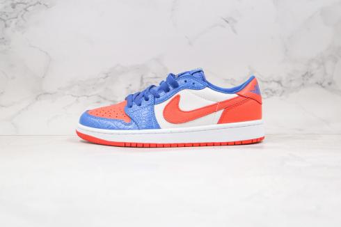 Air Jordan 1 Low Black Royal Blue Orange Shoes CW0858-200