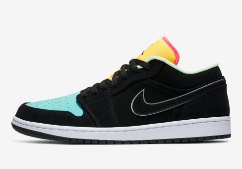 Air Jordan 1 Low SE Aurora Green Black Laser Orange CK3022-013