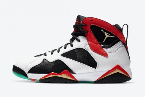 Air Jordan 7 Retro Greater China White Chile Red Black Metallic Gold CW2805-160